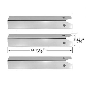 3 PACK Stainless Steel Heat Plate for Great Outdoors Pinnacle TG475-2, TG475-2 and Uniflame GBC750W-C, GBC750W, GBC850W, NSG3902B, Wellington, GNSG3902B Gas Grill Models