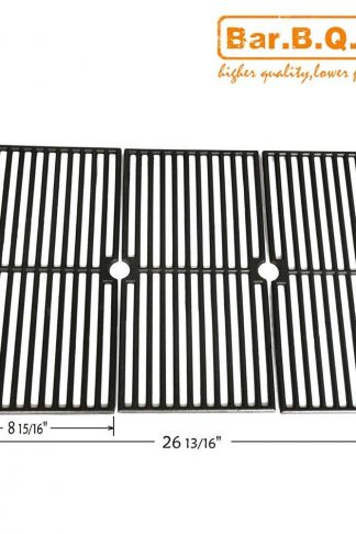 Bar.b.q.s 64103 Porcelain Coated Cast Iron Cooking Grid Replacement for Select Brinkmann and Charmglow Gas Grill Models, Set of 3