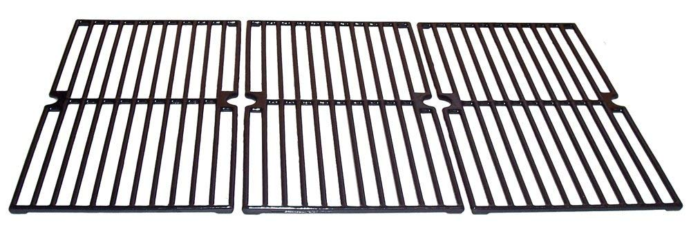 Gloss Cast Iron Cooking Grid Replacement for Select Brinkmann and Charmglow Gas Grill Models, Set of 3