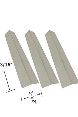 Grillada GG60000-4B, SRGG51112A, SRGG51204A & Brinkmann 810-1455-S, 810-1456-S, 810-9425-W (3-PK) Stainless Heat Shield