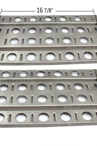 "Hongso SPB571-2 Stainless Steel BBQ Gas Grill Heat Plate, Heat Shield for Lynx L27 Models (16 7/8"" x 9 1/2"")"