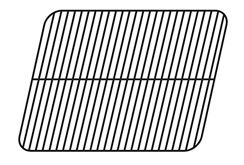 Music City Metals 56121 Porcelain Steel Wire Cooking Grid Replacement for Gas Grill Models Aussie 6112S8X641 and Aussie 6122S8X641