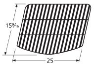 Music City Metals 58201 Porcelain Steel Bar Cooking Grid Replacement for Select Grill Mate and Uniflame Gas Grill Models