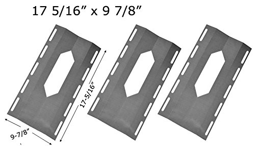 Nexgrill 720-0008-T, 720-0108, 778627, Harris Teeter 21001, Kirkland 778627, SKU778627, Sterling Forge Coutyard 2404 (3-PACK) Stainless Steel Heat Shield