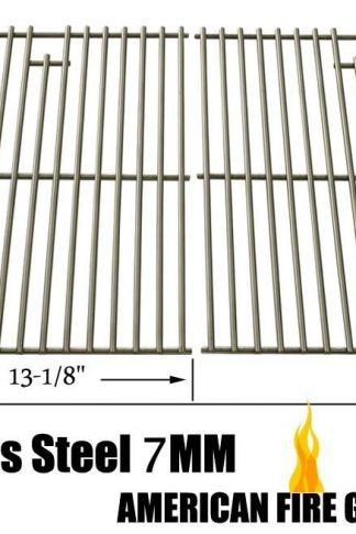 Solid Steel Cooking Grid for Grill Master 720-0670E, 720-0670-E, Kenmore 122.16134, 122.16134110, D02M90225, Uberhaus 780-0003 and Gas Grill Models, Set of 2