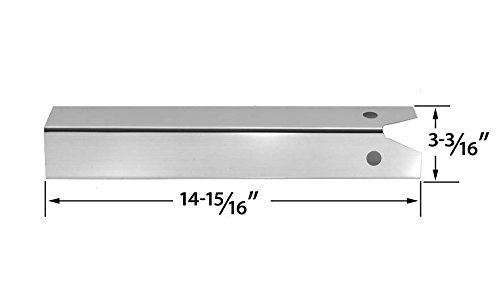 Stainless Steel Heat Plate for Great Outdoors Pinnacle TG475-2, Lynx L27PSR-2-2010, L27R-2-2010, L27-2-2010 and Uniflame GBC750W-C, GBC750W, NSG3902B, Wellington, GNSG3902B Gas Grill Models