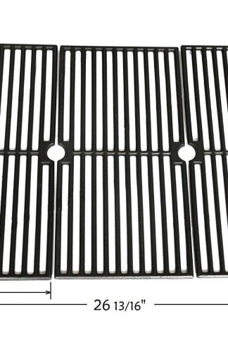 Vicool HyG410C Cast Iron Cooking Grid, Cooking Grate Replacement for Brinkmann, Charmglow, Browning, Grillada Gas Grill Models, Set of 3