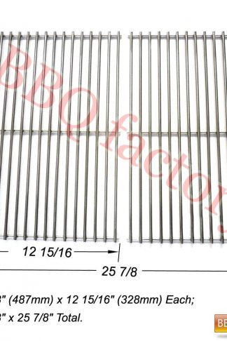 bbq factory JCX6S2 BBQ Stainless Steel Wire Cooking Grid Replacement for Broil-Mate, GrillPro, Jenn Air, Perfect Flame, Sterling and Other Model Grills, Set of 2