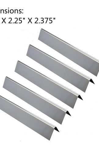 GasSaf 17.5 inch Flavorizer Bar Replacement for Weber Genesis 300, E310, S310, E330, EP-330 Series Grill, 5-Pack Stainless Steel Heat Plate, Heat Tent Replacement for Weber(L17.5 x W2.25 x H2.375)