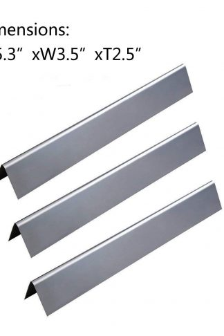 GasSaf Stainless Steel Flavorizer Bars Replacement for Weber Spirit 200 and E210 Series Gas Grills (L15.3 x W3.5X H2.5 inch)(3-Pack)