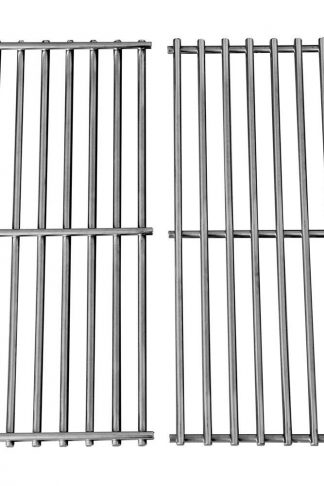 Hongso Grill Grates, Durable 304 Stainless Steel Solid Rod, 17 3-16 x 13 1-2 inch Each Cooking Grid Grate, for Grill Master 720-0697, Nexgrill and Uniflame Gas Grills (2 Pieces, SCI812)