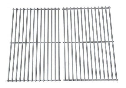 Hongso Grill Grates, Durable 304 Stainless Steel Solid Rod, 19 1-4 inch Cooking Grid Grates Replacement for Turbo, Barbeques Galore, Charmglow Gas Grill (2 Pieces, SCS612)