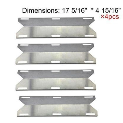 BestValue Go Stainless Steel Heat Plate/Shield Replacement for Charmglow Permasteel Gas Grill and Others -4pack