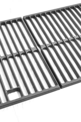 Grill Parts Zone 87522, Weber Spirit 200, Spirit 500, Genesis Silver A, 2241001, 2241298, Cast-Iron Cooking Grid, Set of 2 (Aftermarket)