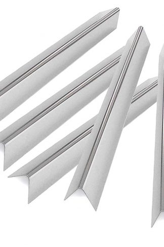 Grill Parts Zone 70376 (1.3 mm) 17 Ga. Stainless Flavorizer Bars for Weber 1741001, Summit E-420, 1840001, 2880001 Gas Models, Set of 5, Aftermarket