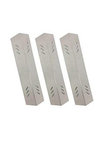 Grill Parts Zone Members Mark BQ05051, BQ06043-1, B09SMG-3, B09SMG1-3F, Master Forge B10LG25 (3-Pack) Stainless Heat Plate