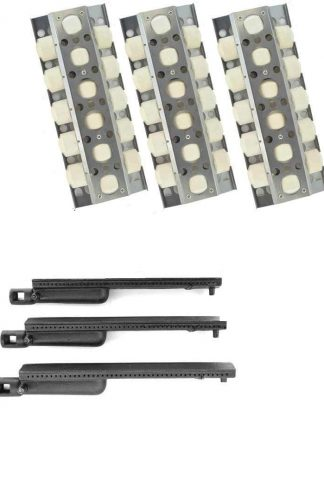 Grill Parts Zone Nexgrill 720-0057 Repair Kit Includes 3 Ceramic Heat Plates & 3 Cast Burners