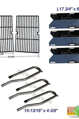 bbq factory Replacement For Jenn Air Gas Grill 720-0336 Burners, Heat Plates, Grid Grate