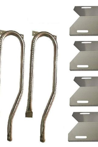 Hongso 4-Pack Jenn Air Gas Barbecue Grill 720-0337, 7200337, 720 0337 Replacement Kit Grill Burners, Heat Plates (SBC361, SPA231)