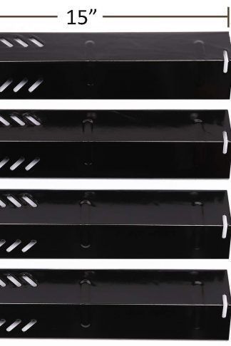 PH1591 (4-pack) Porcelain Steel Heat Plate for Backyard Grill BY12-084-029-98, Backyard GBC1255W, Uniflame GBC1059WB, Uniflame GBC1059WE-C, Uniflame GBC1069WB-C and Others