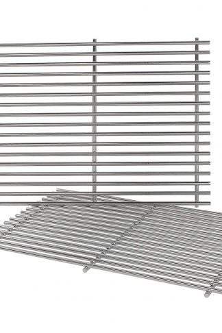 QuliMetal 7528, 304 Stainless Steel Cooking Grates (19.5 x 12.9 x 0.6) for Weber Genesis E and S Series 300 E310 E320 S310 S320 Gas Grills