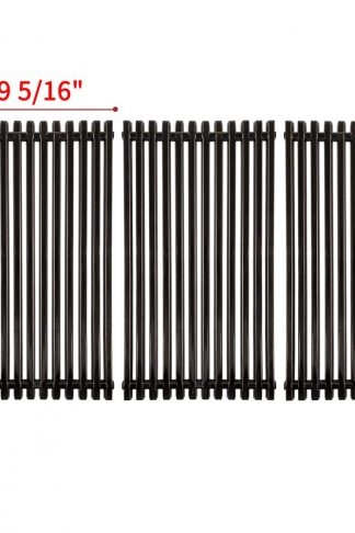 "SHINESTAR 16-7/8"" Grill Replacement Cooking Grates for Charboil 463436214, 463420507, Thermos 461442114, Kenmore, Porcelain Enameled Steel Cooking Grids Parts(16 7/8'' x 9 5/16'' Each, 3pcs)"