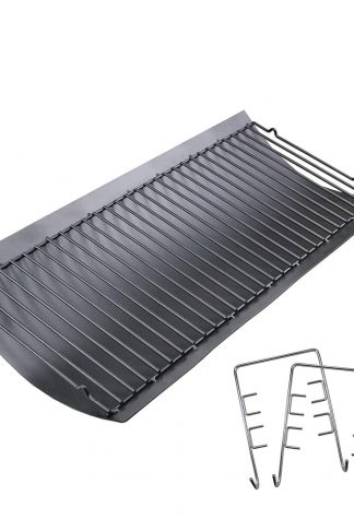 Uniflasy 27 inches Ash Pan Fits Chargriller 1224, 1324, 2121, 2222, 2727, 2828, 2929 Charcoal Grills, Charbroil 17302056 Grill Repair Replacement Part with Fire Grate Hanger