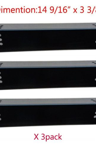 "BBQ Mart PP7371 (3-pack) Porcelain Steel Heat Plate Replacement for Select Grill Master and Uberhaus Gas Grill Models (14 9/16"" x 3 3/8"")"