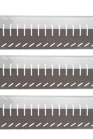 Hisencn (3-Pack Non-Magnetic Stainless Steel Heat Plate Grill Replacement Parts, Heat Tent Shield Deflector Replacement for Charbroil, Costco, Centro and Thermos Grills Flame Tamer Burner Cover