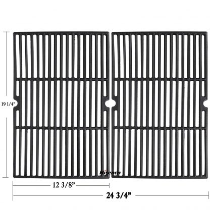 Hisencn Universal Cast Iron Cooking Grid Grill Grate Replacement Parts for Charmglow, Jenn-Air, Weber, BBQ Grillware GGPL-2100, Costco Kirkland, Aussie, Grill Zone, Kenmore, Nexgrill Gas Grill