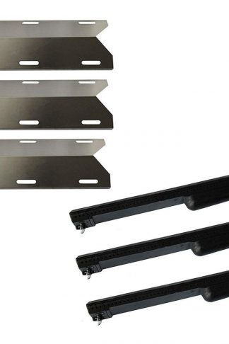Hongso Jenn Air Gas Grill Repair Kit Replacement Grill Heat Plate and Burner - 3 Pack (CBF301, SPA231)
