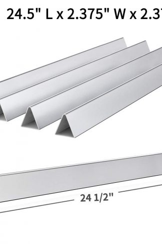 SHINESTAR 7540-24.5 inch Flavor Bars Replacement for Weber Genesis 300 Flavorizer Bars for Genesis 310 E310 (with Side Control Panel), Stainless Steel Bar for Weber Genesis Parts (Set of 5) (SS-WB003)