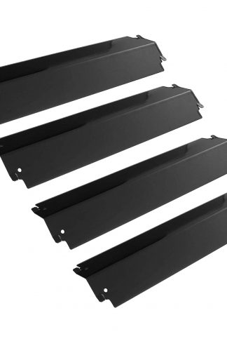 UNICOOK Grill Heat Plate 4 Pack, Porcelain Heat Tent Shield, Grill Replacement Parts, 16''L x 3 13/16''W Grill Burner Cover, Flame Tamer, Flavorizer Bar for Most Gas Grills