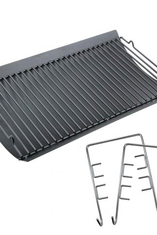 Uniflasy 20 inches Fire Grate Hanger & Ash Drip Pan for Use with Chargriller 5050, 5072, 5650 Charcoal Grills Char-Griller Replacement Parts
