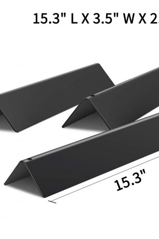 X Home 7635 Flavorizer Bars 15.3 Inch Replacement for Weber Spirit E210 Grill Parts, for Spirit 200/210 Parts, Spirit E210 S210 Flavorizer, with Front-Control, Set of 3 Porcelain Steel Flavor Bars
