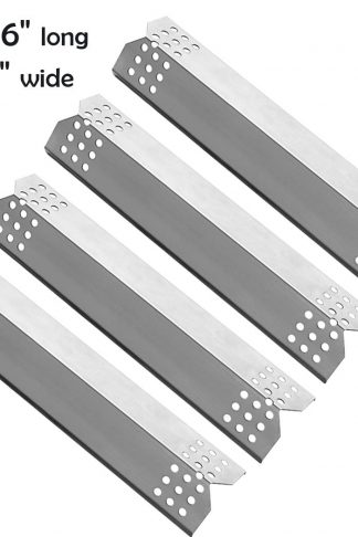 YIHAM KS708 Replacement Parts for Grill Master 720-0697 Nexgrill 720-0830H 720-0783E 720-0737 BBQ Heat Shield Plate Tent Burner Cover Flame Tamer, 14 9/16 inch x 3 3/8 inch, Stainless Steel, Set of 4