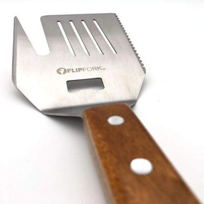 FLIPFORK Grill Spatula Fork Perfect Grill Gifts for Men BBQ Spatula Accessory for Grilling Grill BBQ Accessories for Men All-in-ONE Stainless Steel Barbecue Tools with a Knife