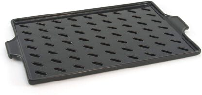Charcoal Companion Flame Friendly Ceramic Grilling Grid / Fireproof and Thermal Shock Resistant - 16.5-Inch by 10.2-Inch - CC3800