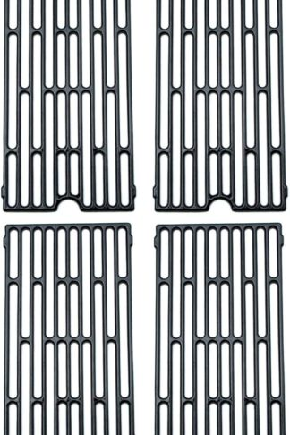 Direct Store Parts DC105 (4-Pack) Polished Porcelain Coated Cast Iron Cooking Grid Replacement Vermont Castings, Chargriller, Jenn Air Gas Grill