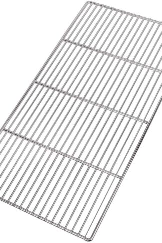 LANEJOY Barbecue Wire Mesh, Stainless Steel BBQ Grill Mat, Multifunction Grill Cooking Grid Grate 2 Pack (X-Medium)