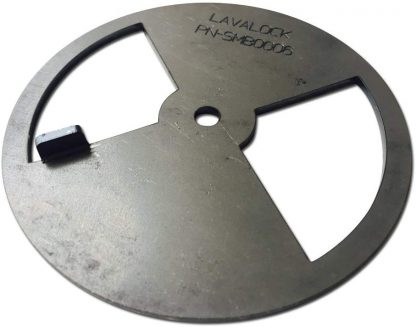 "LavaLock® Smoker Pinwheel BBQ air Damper Pit Grill Vent, Steel 4 6 8 12 (4"" Diameter)"