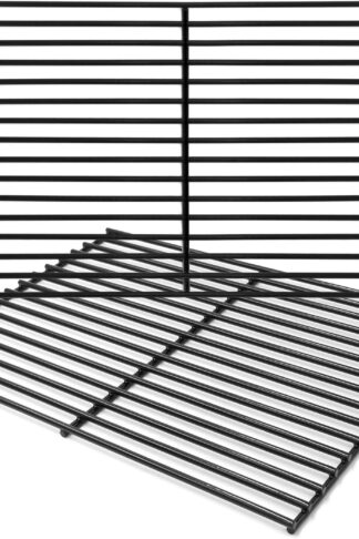 "Hongso 16 5/8"" Porcelain Steel Grill Grate Cooking Grid Replacement Parts for Thermos 461252605, Kirkland Front Avenue 463230703, Charbroil 463261306, Kenmore, Kmart Gas Grill, 2-Pack (PCB932)"