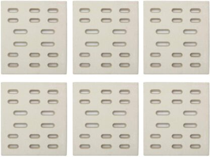 Hongso CRG501 (6-pk) Replacement Heat Plate, Ceramic Radiant Flame Tamer for Bakers and Chefs, Fiesta, Grand Hall, Member's Mark, SAMS & Turbo Gas Grill Models