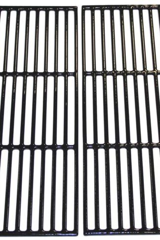 Hongso PCE051 Porcelain Coated Cast Iron Grill Cooking Grid Grates Replacement for Chargriller Gas Grill Models 2121, 2123, 2222, 2828, 3001, 3030, 3725, 4000, 5050, 5252, 5650, Sold as a Set of 4
