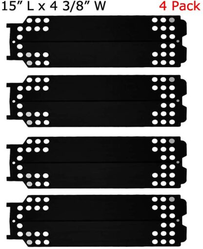 SUONA Porcelain Steel Heat Shield for Charbroil 463436213,463436215,461334813,463234413,466334613,466342014 Gas Grill, G432-0096-W1,15 x 4 3/8 Inch 4Pack(PT-83)