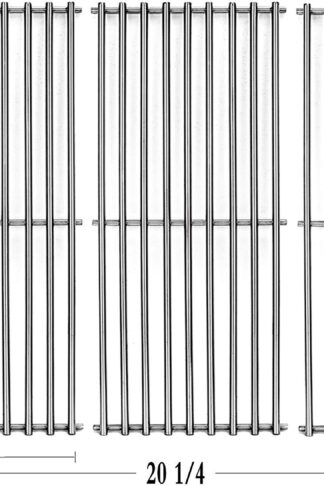 Votenli S6505A (3-Pack) Stainless Steel Cooking Grid Grates Replacement for Chargriller 3001, 3008, 3030, 4000, 5050, 5252,5650,King Griller 3008 5252 Set of 3