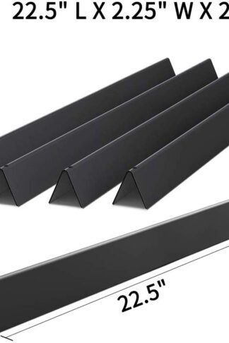 "X Home 7536 Porcelain Steel 22.5"" Flavorizer Bars for Weber Spirit 300 310 E310 E320 Grills with Side-Controls, Also for Genesis Silver B/C, Gold B/C, Set of 5 Flavor Bars for Weber 7537"