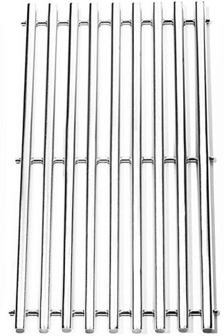 "BBQration Half-Tube Design Stainless Steel Channel Cooking Grid Replacement for Gas Grill Model Charbroil 463440109, 463441312, 16 7/8"" x 9 5/16"" Grill Grid, Sold as a Set of 3"