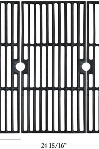 Hisencn Cast Iron Cooking Grid Grates Replacement for Charbroil Advantage 463343015, 463344015, 463344116, and Kenmore, Broil King Gas Grill Models, G467-0002-W1, 16 15/16""