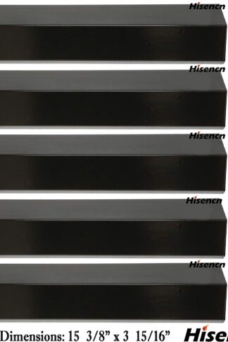 Hisencn Grill Heat Plate for Brinkmann 810-2410-S, 810-3660-S,810-2511-S,810-2512-F Replacement Heat Tent Shield Deflector for Uniflame, Aussie and Others, 15 3/8 inch BBQ Flame Tamer Burner Cover